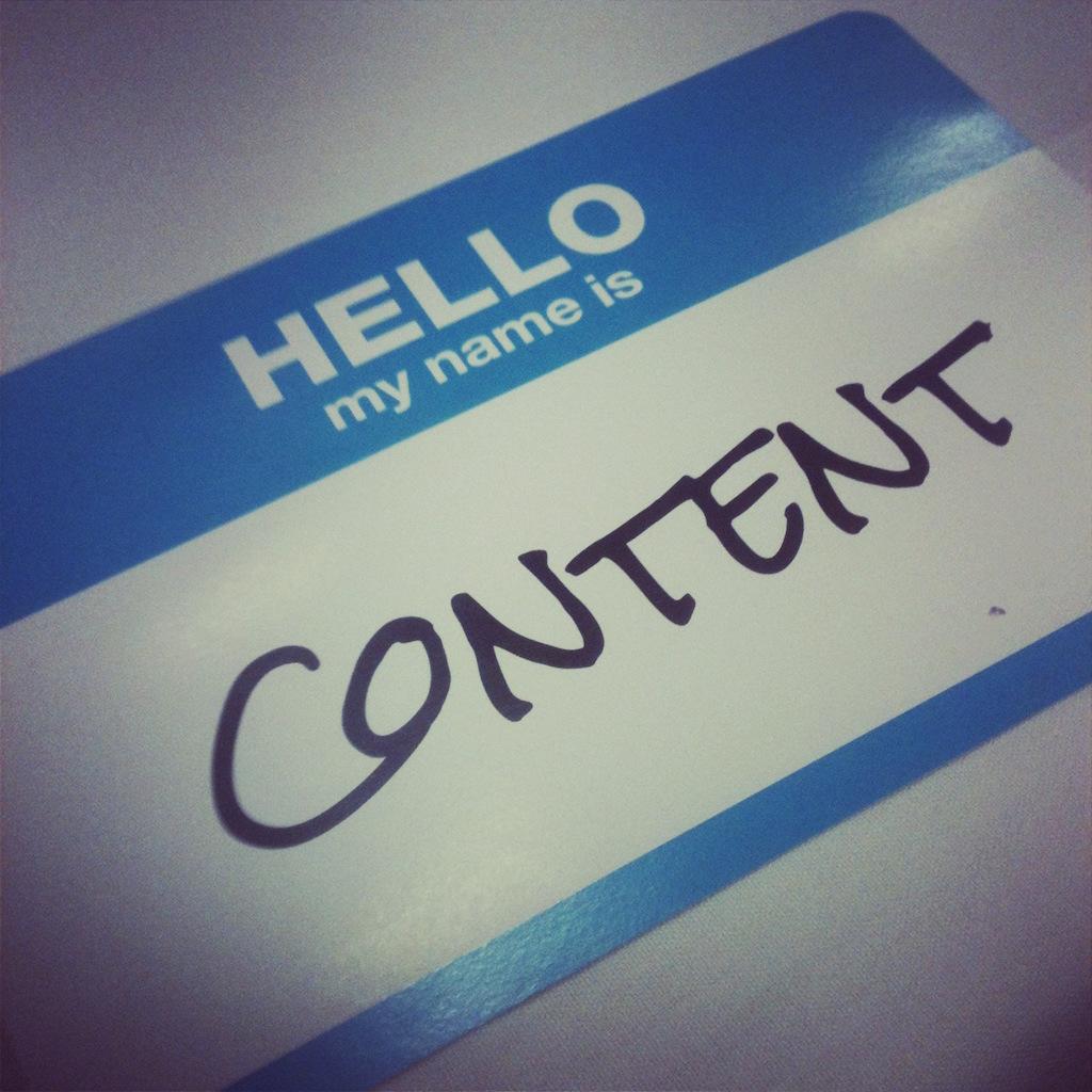 LET'S TALK ABOUT CONTENT (AGAIN)